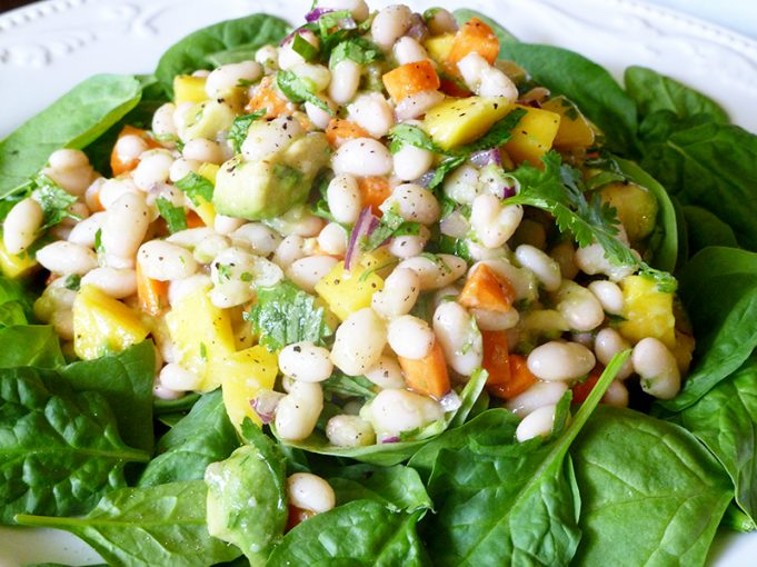 White Bean Mango Salad with Honey Lime Dressing (SCD, GAPS, grain-free)