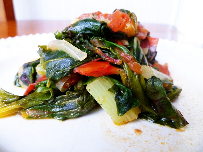 Swiss Chard with White Wine and Tomato (Paleo, GAPS, SCD, dairy free)