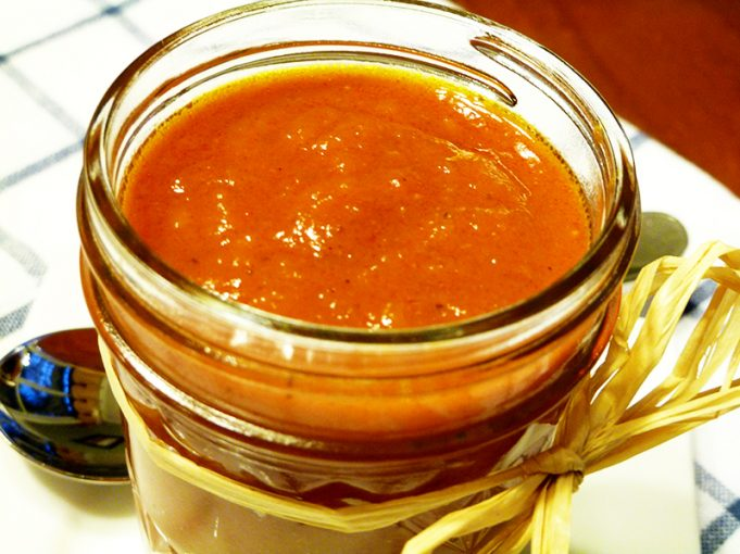"""Just Peachy"" Barbecue Sauce (Paleo, refined sugar-free)"