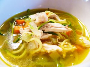 Chicken No-Noodle Soup (a/k/a Chicken Zoodle Soup – AIP, Paleo, GAPS, SCD)