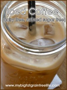 Iced Coffee (Paleo, GAPS, SCD, dairy free, refined sugar free)