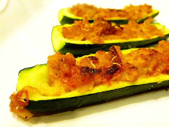Stuffed Zucchini Boats (Paleo, GAPS, SCD, Grain Free)