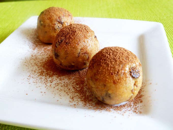 Peanut Butter Date Balls with Chocolate Chips (GAPS, SCD, Dairy Free, Grain Free, Refined Sugar Free)
