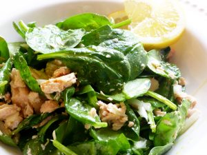 Tuna and Spinach Salad with Lemon and Olive Oil (Paleo, AIP, GAPS, SCD)