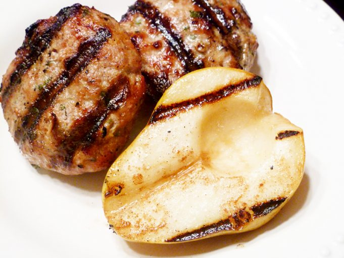 Chicken Burgers with Grilled Pears (AIP, Paleo, GAPS, SCD)