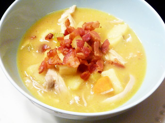 Creamy Potato and Chicken Soup (AIP, Paleo, dairy free)