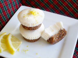 "Mini Lemon ""Cheesecake"" with Gingered Date Crust (AIP, Paleo, GAPS, SCD, nut free, dairy free, refined sugar free)"