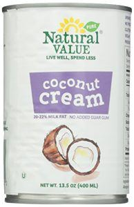 Natural Value Coconut Cream, 13.5 Ounce (Pack of 12)