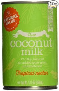 Natural Value B20963 Natural Value Organic Coconut Milks -12×13.5oz