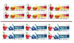 That's it Super Variety Pack of 12, (6 Apple+Blueberry, 6 Apple+MANGO)