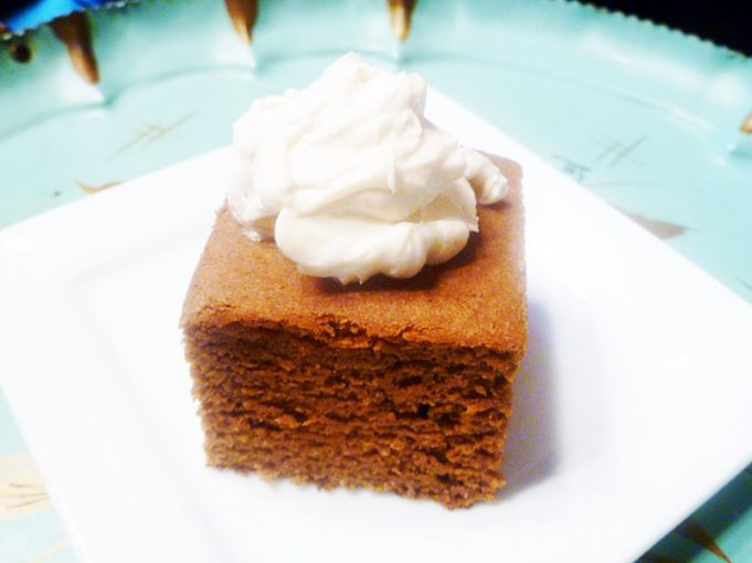 Gingerbread Snack Cake (grain free, dairy free, refined sugar free)