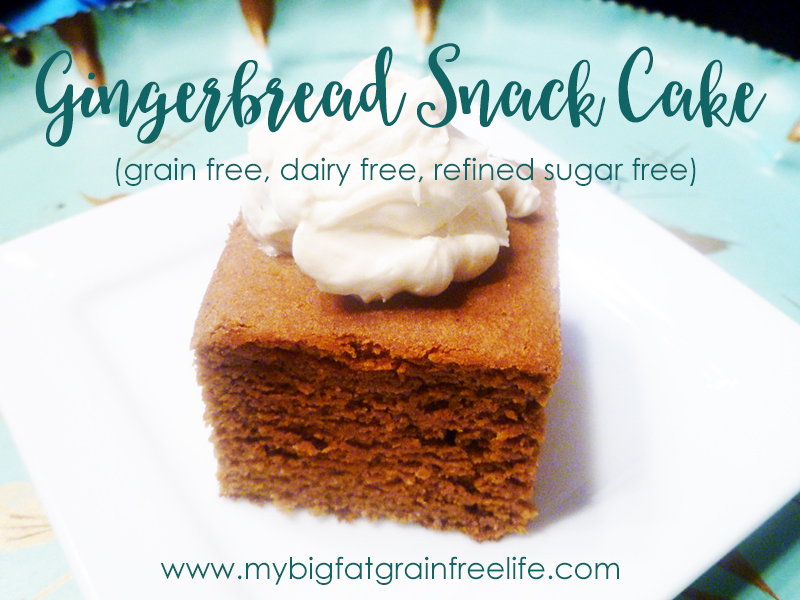 Gingerbread Snacking Cake Recipe — Dishmaps