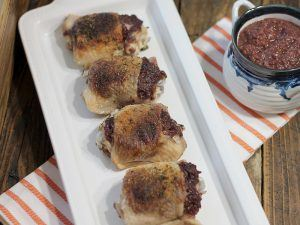 Chicken Stuffed with Bacon Orange Cherry Jam (AIP, Paleo, GAPS, SCD)