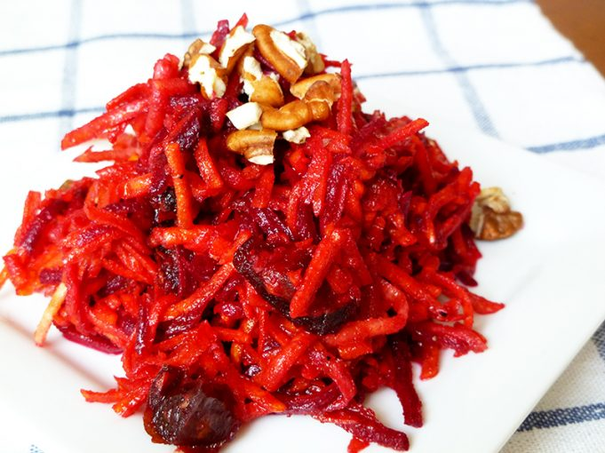 Carrot Beet Salad with Dates and Toasted Pecans (AIP Option, Paleo, GAPS, SCD)
