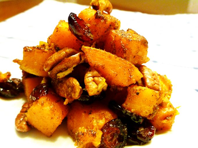 Spiced Butternut Squash with Dried Cranberries and Toasted Pecans (AIP Option, Paleo, GAPS, SCD)